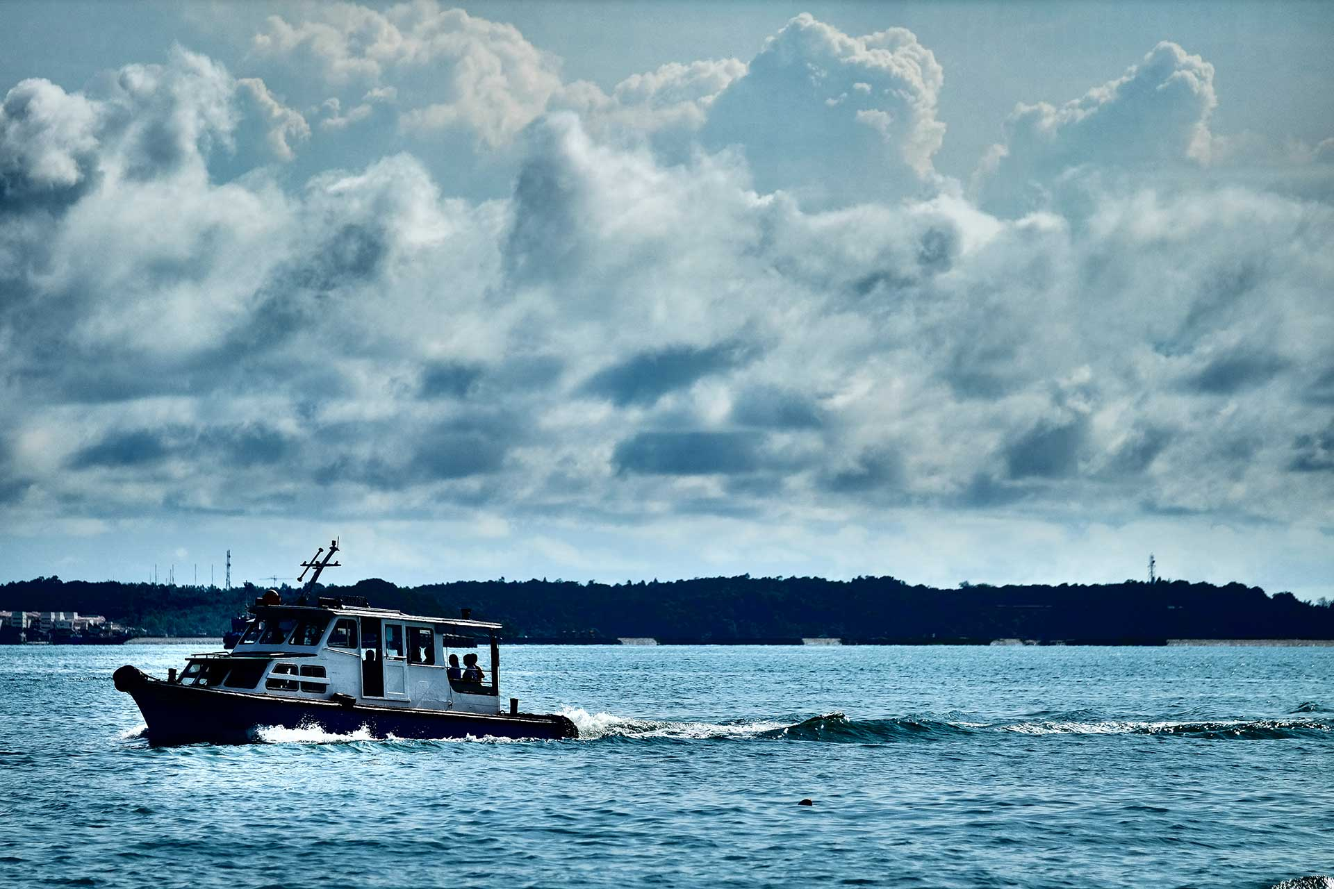 Pictorial Pulau Ubin Boat